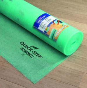 Quick step laminate floor underlayment