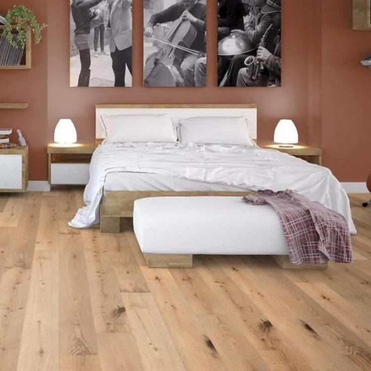 Narrow wood flooring for that classic and stately look!